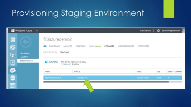 Provisioning Staging Environment
