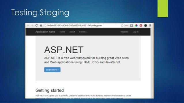 Testing Staging