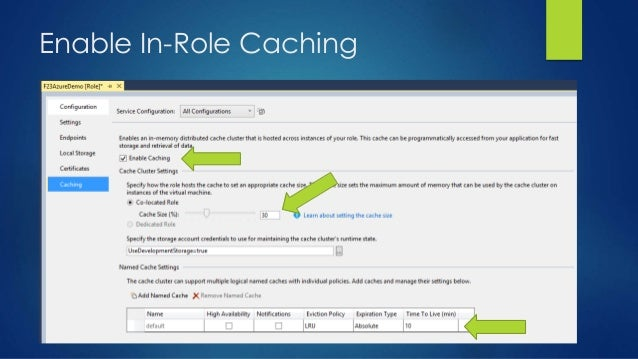 Enable In-Role Caching