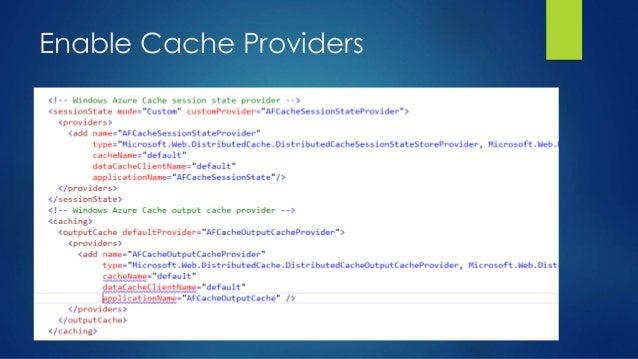Enable Cache Providers