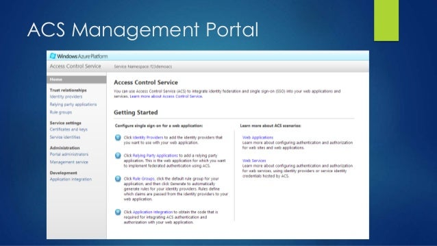 ACS Management Portal