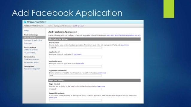 Add Facebook Application