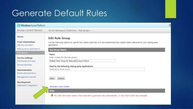 Generate Default Rules