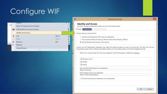 Configure WIF