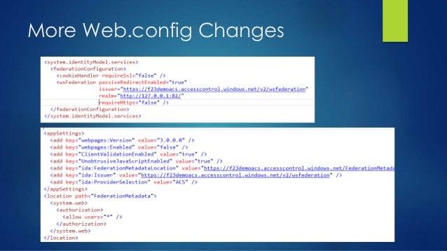 More Web.config Changes