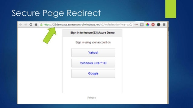 Secure Page Redirect