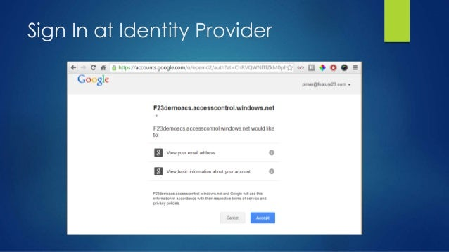 Sign In at Identity Provider