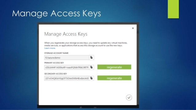 Manage Access Keys