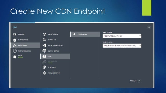 Create New CDN Endpoint