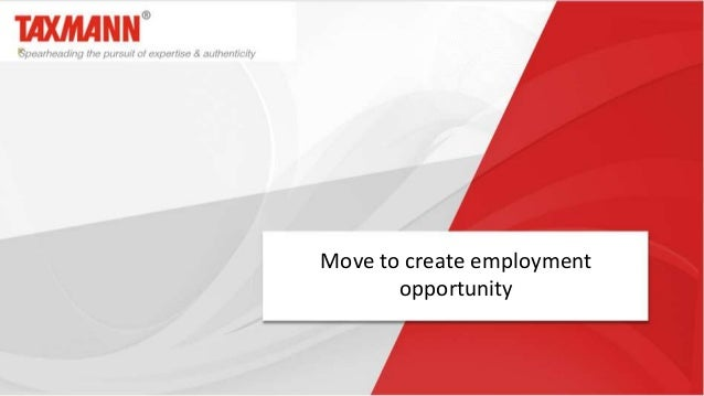 Move to create employment opportunity
