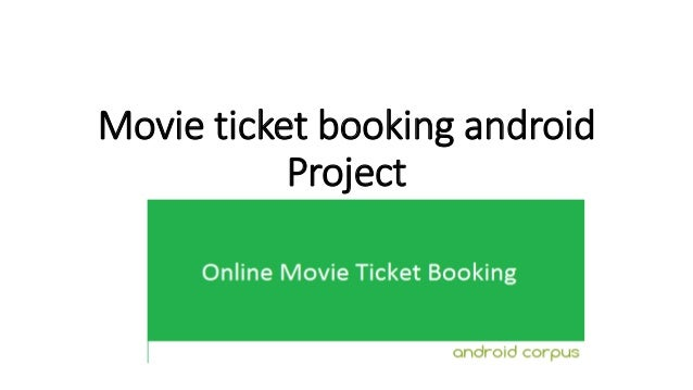 Movie ticket booking android Project