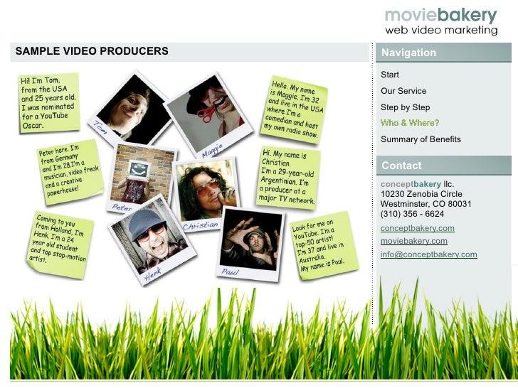 SAMPLE VIDEO PRODUCERS   Navigation                          Start                          Our Service                   ...