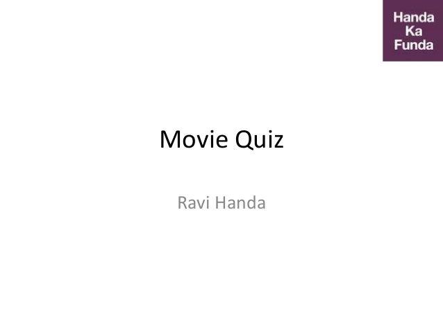 Movie Quiz Ravi Handa