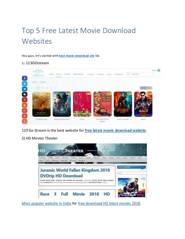 Most popular movie download sites in india