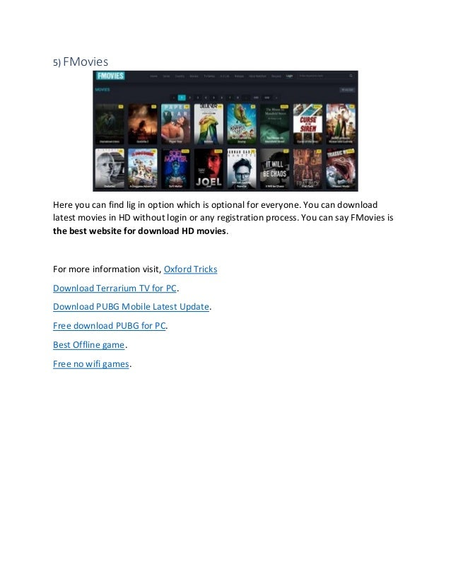website for free movie download without registration