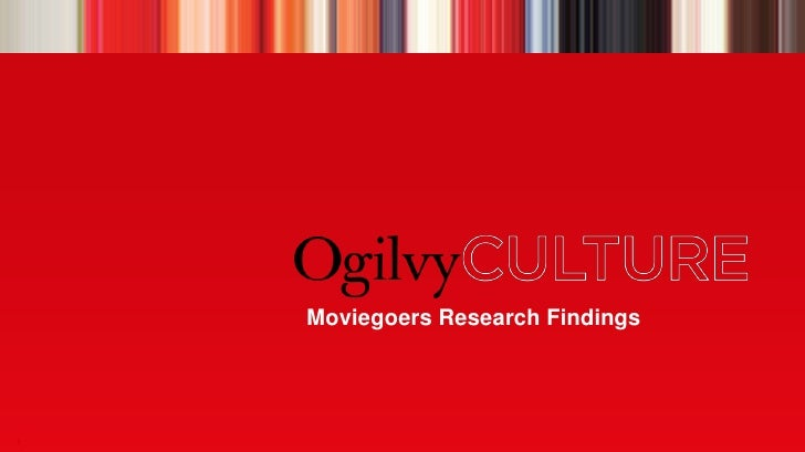 Moviegoers Research Findings<br />1<br />