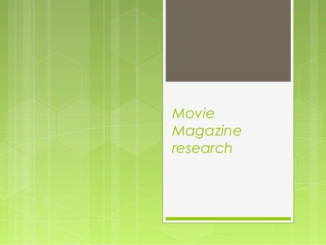 Movie Magazine research