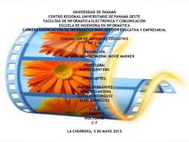 UNIVERSIDAD DE PANAMÁ CENTRO REGIONAL UNIVERSITARIO DE PANAMÀ OESTE FACULTAD DE INFORMATICA ELECTRÓNICA Y COMUNICACIÓN ESC...