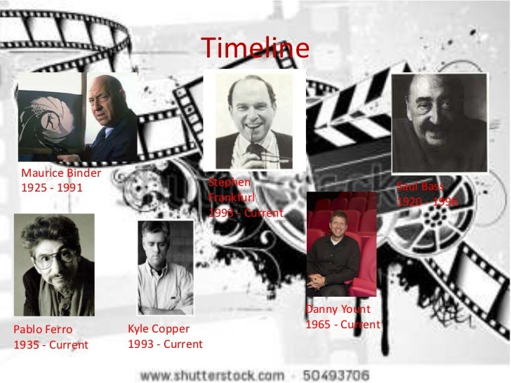 Timeline Maurice Binder 1925 - 1991                       Stephen                           Saul Bass                     ...