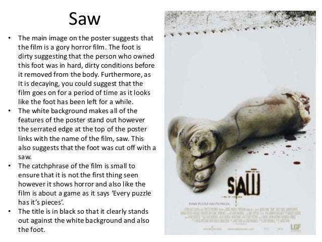 analysis of the movie saw Saw vi is a 2009 american horror film directed by kevin greutert from a screenplay written by patrick melton and marcus dunstan it is the sixth installment in the saw franchise and stars tobin bell, costas mandylor, betsy russell, mark rolston, peter outerbridge, and shawnee smith.