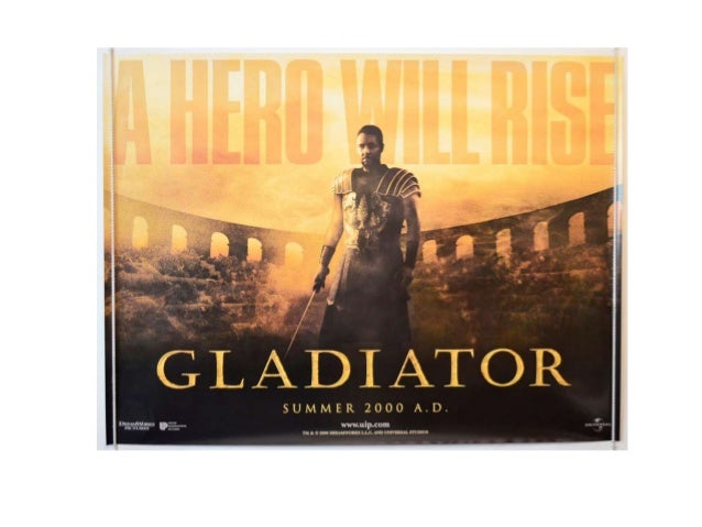 Gladiator Poster Analysis • The poster employs a number of methods in order to attract the audience and make them aware of...