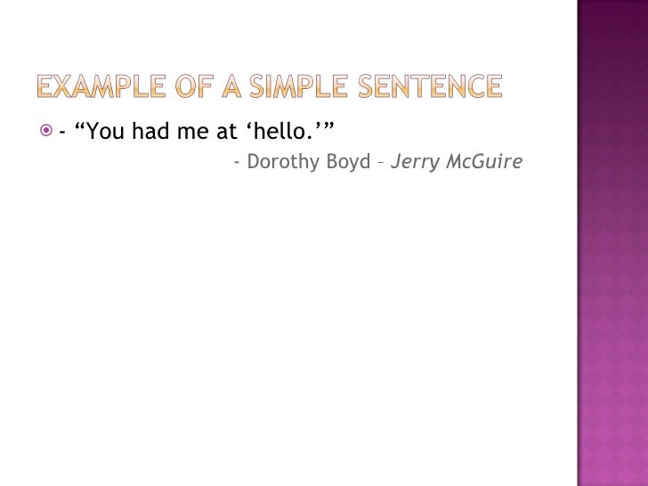 No Is A Complete Sentence Quote: Movie Quote Types Of Sentences