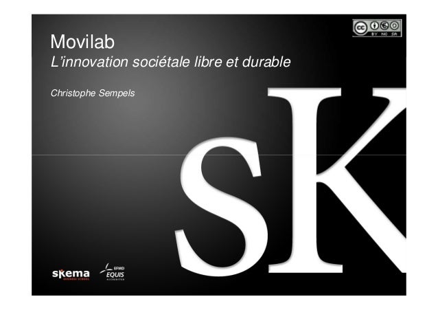 MovilabL'innovation sociétale libre et durableChristophe Sempels