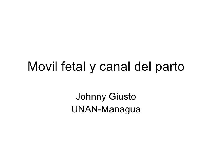 Movil fetal y canal del parto Johnny Giusto UNAN-Managua