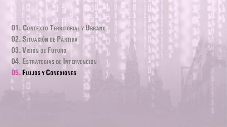01. CONTEXTO TERRITORIAL Y URBANO02. SITUACIÓN DE PARTIDA03. VISIÓN DE FUTURO04. ESTRATEGIAS DE INTERVENCIÓN05. FLUJOS Y C...