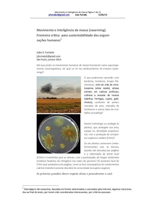 Movimento  e  inteligência  de  massa  Página  1  de  11   jsfurtado2@gmail.com            ...