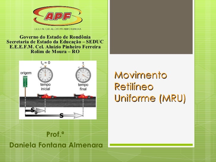 Movimento retilíneo