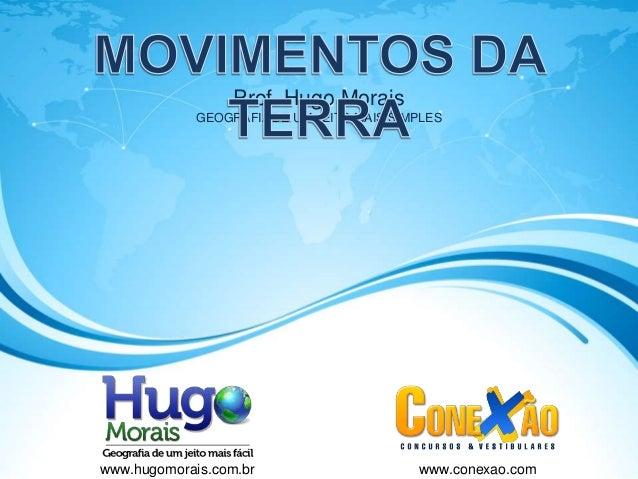 Prof. Hugo Morais             GEOGRAFIA DE UM JEITO MAIS SIMPLESwww.hugomorais.com.br                      www.conexao.com