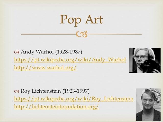 Movimentos e artistas Slide 2