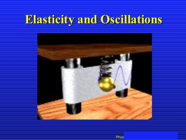 Elasticity and Oscillations                 Physics 101: Lecture 19, Pg 1