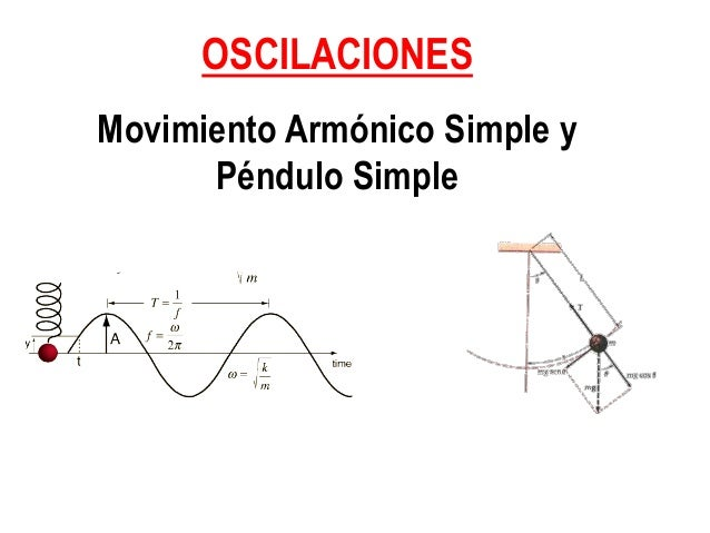 OSCILACIONES Movimiento Armónico Simple y Péndulo Simple