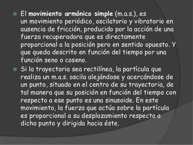 Movimiento armonico simple Slide 2