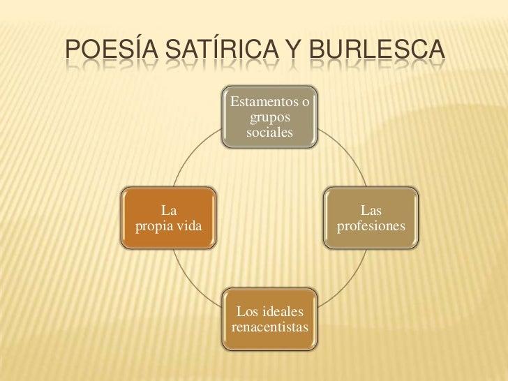 POESÍA satírica y burlesca <br />