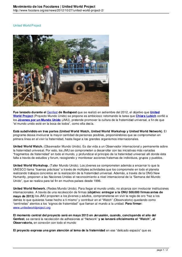 Movimiento de los Focolares | United World Projecthttp://www.focolare.org/es/news/2012/10/27/united-world-project-2/United...