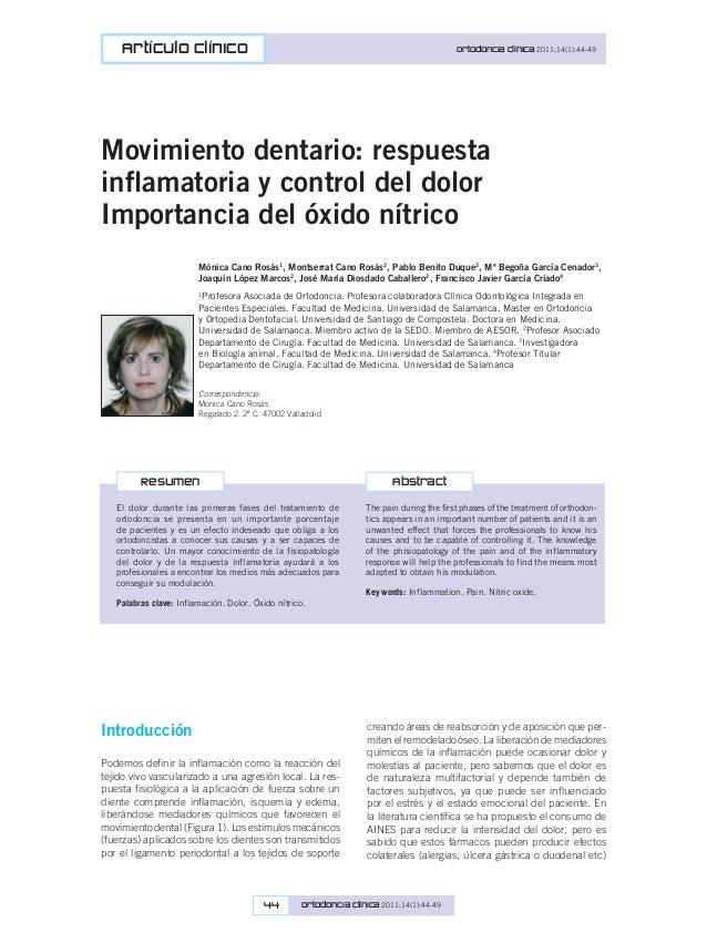 Jordi Coromina 44 Ortodoncia Clínica 2011;14(1):44-49 Artículo clínico Ortodoncia Clínica 2011;14(1):44-49 The pain during...