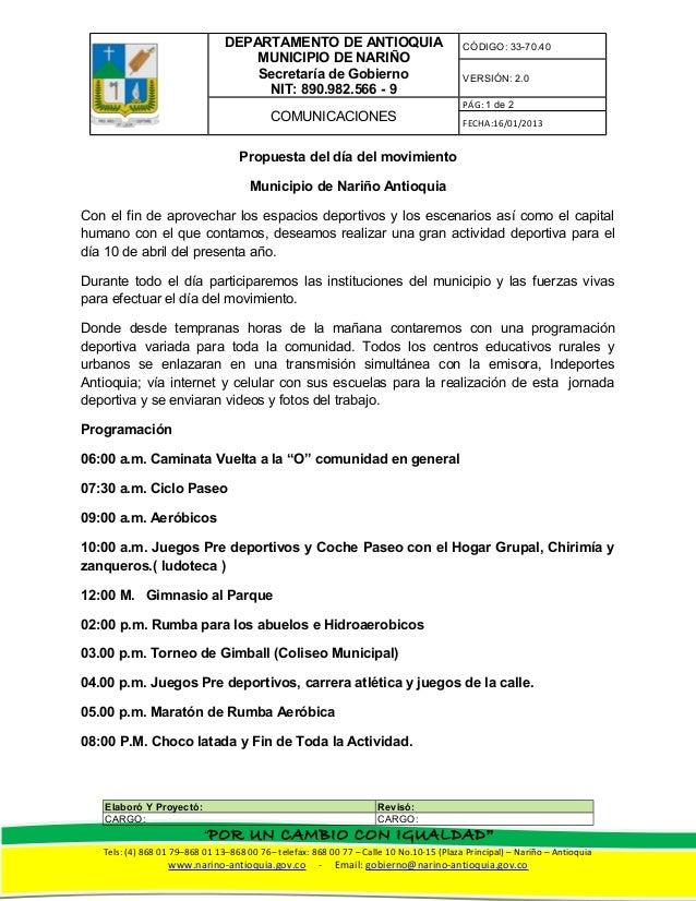DEPARTAMENTO DE ANTIOQUIA                                CÓDIGO: 33-70.40                                    MUNICIPIO DE ...