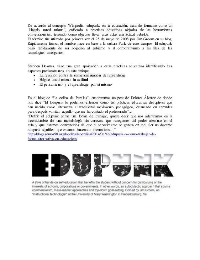 Movimiento edupunk Slide 2