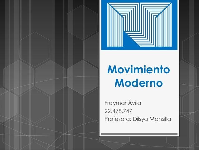 Movimiento moderno mapa mental - Movimiento moderno ...