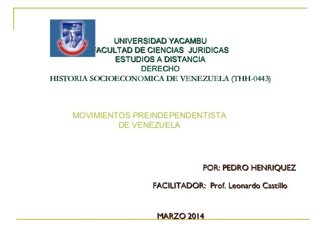UNIVERSIDAD YACAMBUUNIVERSIDAD YACAMBU FACULTAD DE CIENCIAS JURIDICASFACULTAD DE CIENCIAS JURIDICAS ESTUDIOS A DISTANCIAES...