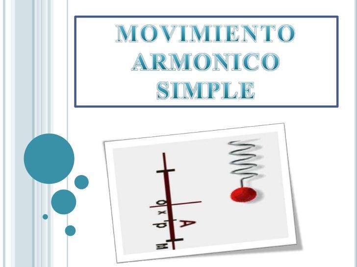 MOVIMIENTO ARMONICO SIMPLE<br />