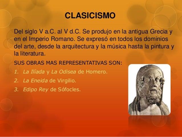 Movimientos literarios - Epoca del clasicismo ...