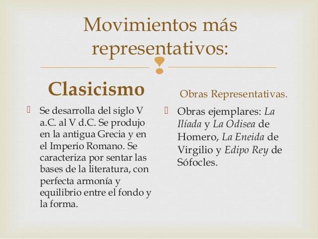 Movimientos literarios. Slide 3