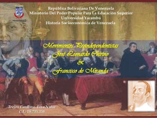 República Bolivariana De Venezuela Ministerio Del Poder Popular Para La Educación Superior Universidad Yacambú Historia So...