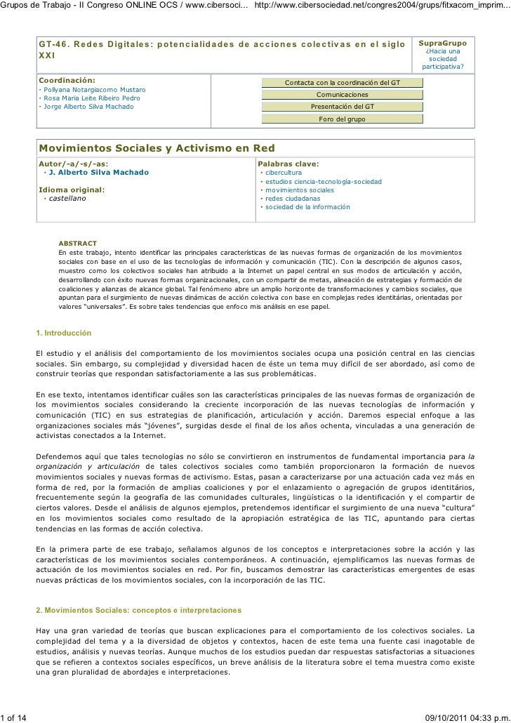 Grupos de Trabajo - II Congreso ONLINE OCS / www.cibersoci... http://www.cibersociedad.net/congres2004/grups/fitxacom_impr...