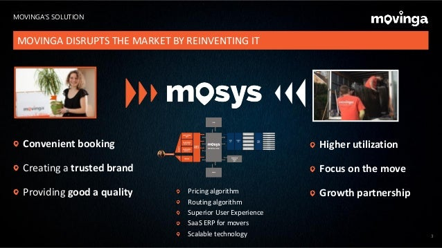 3 MOVINGA'S SOLUTION MOVINGA DISRUPTS THE MARKET BY REINVENTING IT Higher utilization Focus on the move Growth partnership...