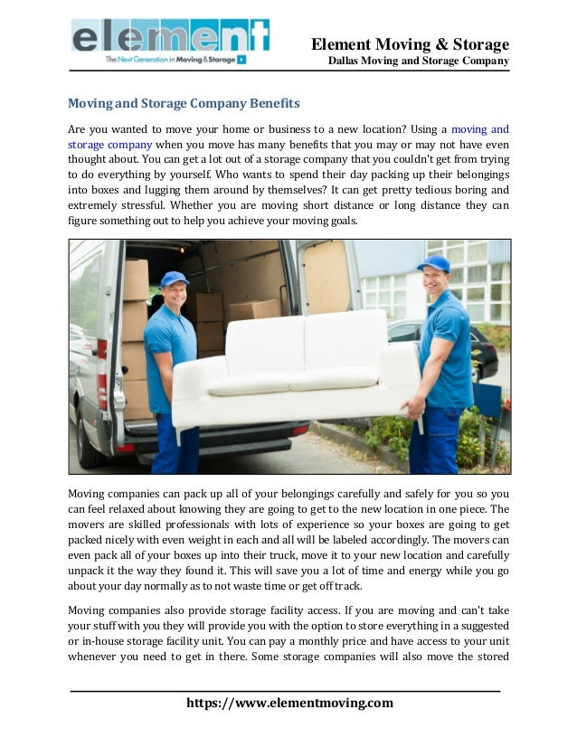 Moving And Storage Companies >> Moving And Storage Company Benefits